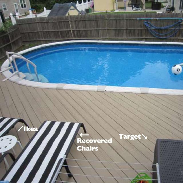 DIY swimming pool decor