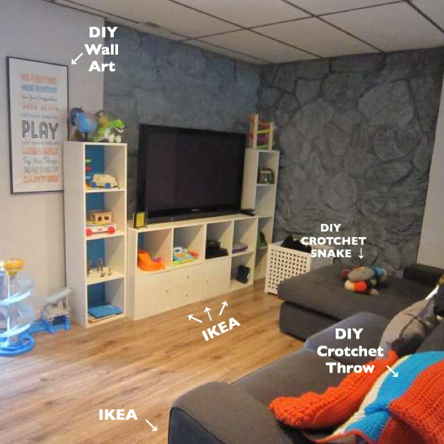 diy playroom, IKEA playroom