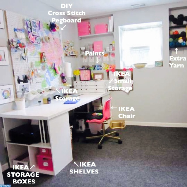 DIY Craft Room, DIY Craft Room pegboard, diy Craft Room desk